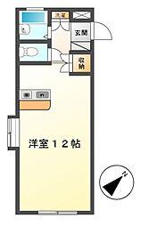メゾンドヴェール[4階]の間取り