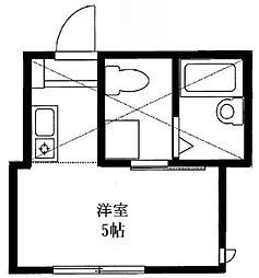 神奈川県横浜市中区英町の賃貸アパートの間取り
