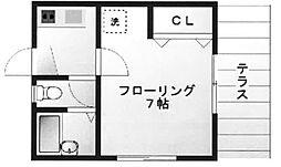 東京都豊島区長崎6丁目の賃貸アパートの間取り