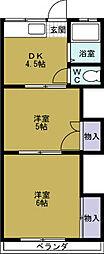 マンション丸本B棟[4階]の間取り