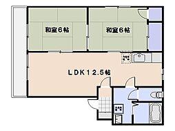 ディアス中央 A棟[202号室]の間取り
