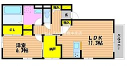 (仮)D−room白石西新町B棟[1階]の間取り