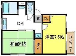 ソファレ伊藤[2階]の間取り