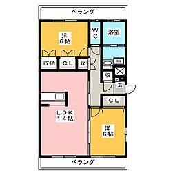 M−Palette[3階]の間取り