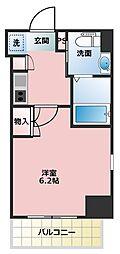横浜市営地下鉄ブルーライン 弘明寺駅 徒歩6分の賃貸マンション 4階1Kの間取り