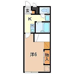 静岡県富士市伝法の賃貸アパートの間取り