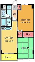 マンション鈴音[303号室]の間取り