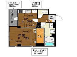Casa大濠西[703号室]の間取り