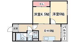 Osaka Metro堺筋線 天神橋筋六丁目駅 徒歩7分の賃貸マンション 3階2DKの間取り