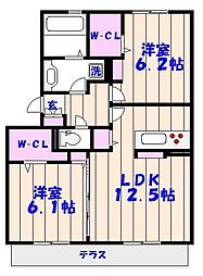 メゾンマグノリア徳住[3階]の間取り