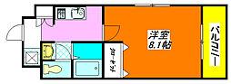 M'プラザ布施駅前 208号室[2階]の間取り