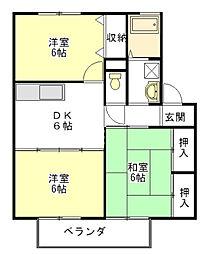セジュールK3[2階]の間取り