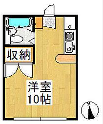 くれーるハイツ[2階]の間取り