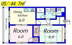 M'Sマンション[3B号室]の間取り