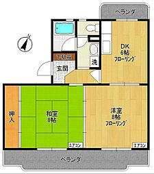 ピクシー野村[1階]の間取り