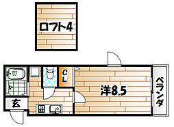 コンドミニアム医生ヶ丘III[211号室]の間取り