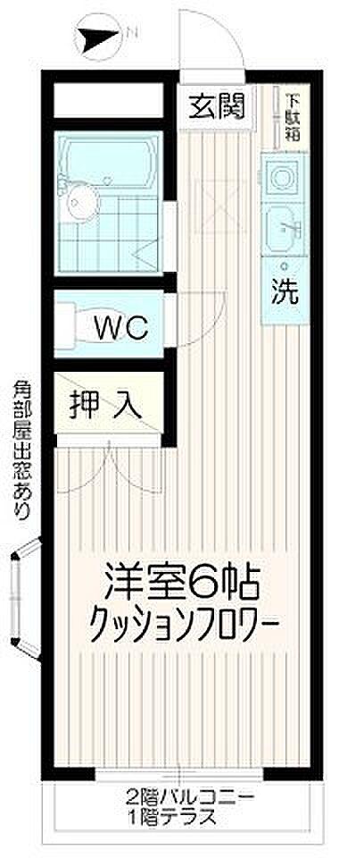 間取り(バストイレ別コーポ・ファミーユ)