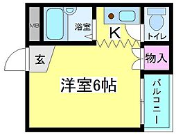 アスカマンション[4階]の間取り