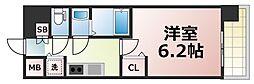 Osaka Metro千日前線 北巽駅 徒歩8分の賃貸マンション 14階1Kの間取り