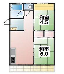 森田マンション1[503号室]の間取り