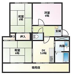 パインコートSEIWA B棟[2階]の間取り