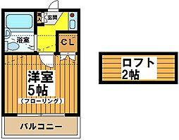 東京都世田谷区羽根木2丁目の賃貸アパートの間取り