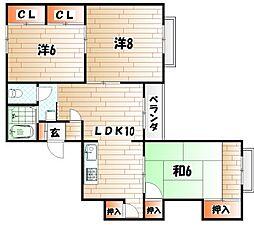 e-lux MIYAKO[3階]の間取り