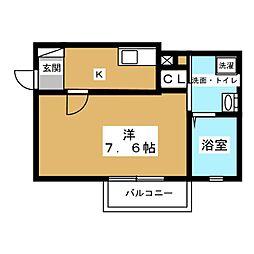 Casa Avenue Nakamura[3階]の間取り