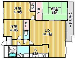 アザレヴェールハイム広田[3階]の間取り