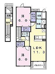 ウィング[2階]の間取り
