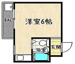 ドミール東野[303号室]の間取り