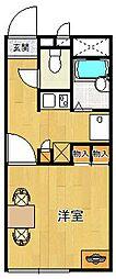 レオパレス水堂[105号室]の間取り