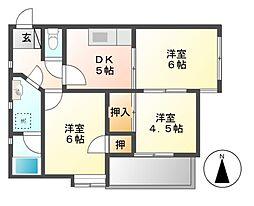 三鈴ハイム[2階]の間取り