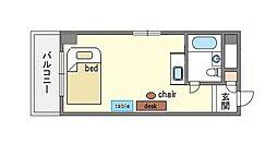 家具付きシンプルプチメゾン薬院 S[4階]の間取り