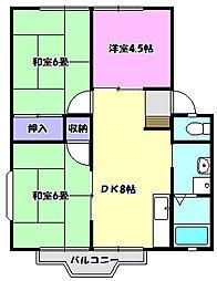パークハイツ松ヶ丘[203号室]の間取り