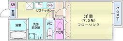 JR仙山線 北山駅 徒歩6分の賃貸アパート 1階1Kの間取り