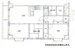 グリーンコート井口[2階]の間取り