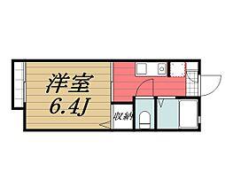 千葉県千葉市若葉区西都賀5丁目の賃貸アパートの間取り