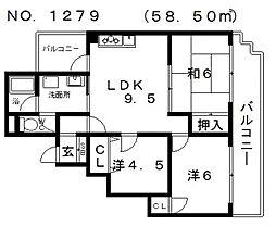 クラールプラッツ[1階]の間取り