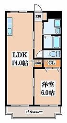 コーポニシヨシ[3階]の間取り