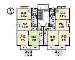 シャーメゾン東割 A棟[201号室]の間取り