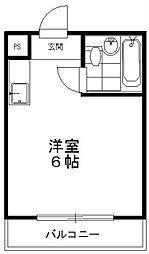 東京都世田谷区下馬5丁目の賃貸マンションの間取り