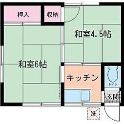 渋谷荘[1階]の間取り