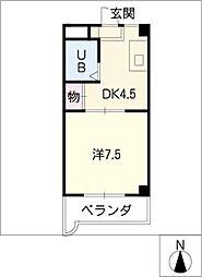 モナーク安井[4階]の間取り