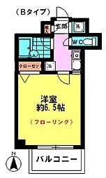 東京都八王子市新町の賃貸マンションの間取り