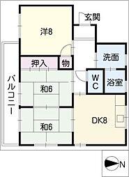 八州苑のむら[2階]の間取り