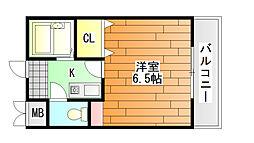 ベルメゾン一須賀 1号館[3階]の間取り