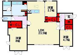 JR鹿児島本線 黒崎駅 徒歩17分の賃貸マンション 1階3LDKの間取り