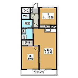 ロワールレジデンスII[6階]の間取り