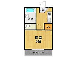 フラワーハイツ新伊丹[2階]の間取り